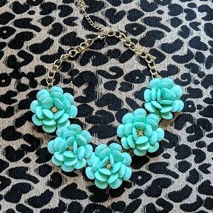 Statement necklace, beautiful turqoise